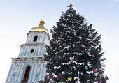 Christmas time in Kyiv photo — Stock Photo