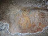 Gallery of frescos in Sigiriya — Stock Photo