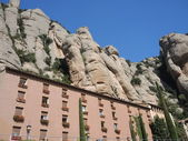 The monastery on the mountain of Montserrat — Stock Photo