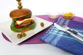 Burger — Foto Stock