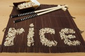 Letters of rice — Stock fotografie