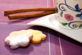 Kaffee und kekse — Stockfoto