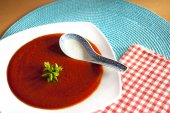 Rote suppe — Stockfoto