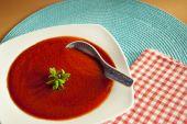 Röd soppa — Stockfoto