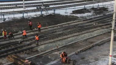 Work on the railway in 4K — 图库视频影像