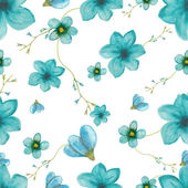 Seamless pattern of blue flowers — Стоковое фото