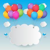 Balloon sky background — Stock Vector