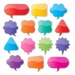 Paper speech bubbles — Stock Vector #55705823