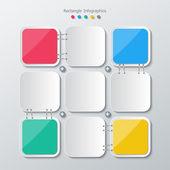 Papper polygon infographics — Stockvektor