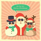 Christmas Santa Claus background — Stock Vector