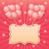 Balloon starburst background — Stock Vector