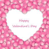 Rose petal heart — Stock Vector