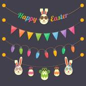 Easter party light bulbs — Stock Vector