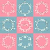 Line frames set — ストックベクタ