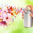 Flower-scented room sprays and flowers from inside - 2 — Stock Photo #52156129