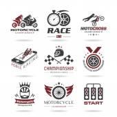 Motorcycle racing icon set - 3 — Vetorial Stock