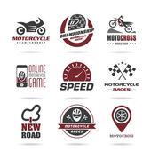 Motorcycle racing icon set -2 — Vetorial Stock
