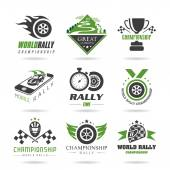 Rally icon set, sports icons - 2 — Stock Vector