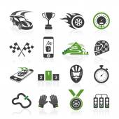 Rally icon set, sports icons — Stock Vector