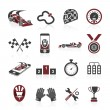 Formula 1 icon set, sport icons and sticker — Stock Vector #53704443