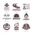Постер, плакат: Formula 1 icon set sport icons and sticker 3