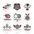 Formula 1 icon set, sport icons and sticker - 2 — Stock Vector #53704449