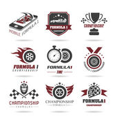 Formula 1 icon set, sport icons and sticker - 2 — Stock Vector