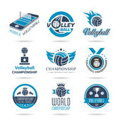 Volleyball icon set - 3 — Stock Vector