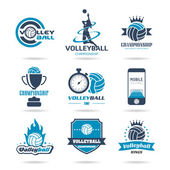 Volleyball icon set - 2 — Stock Vector