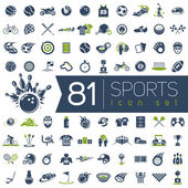 Sport vector icons for web and mobile. — Stock Vector
