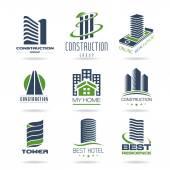 Building and construction icon set — Stock Vector
