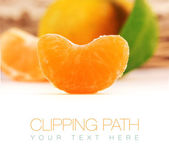 Tangerine with clipping path — Stock Photo