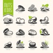 Постер, плакат: Nuts icon set