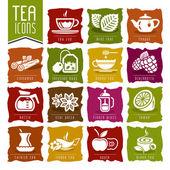 Tea icon set - 2 — Stock Vector
