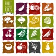 Frutas e vegetais Icon Set - 2 — Vetor de Stock  #65097021