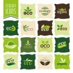 Ecology, organic icon set. Eco-icons — Stock Vector #68757989