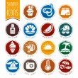 Summer icon set — Stock Vector #74994739