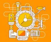 El mecanismo del reloj. — Vector de stock
