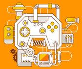 The mechanism of joystick. — Stock Vector