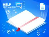 Illustration manual — Stock Vector