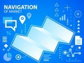 Illustration navigate map — Stock Vector