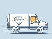 Delivering diamond — Stock Vector