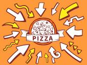 Icon of pizza — Stock Vector
