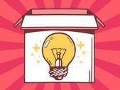 Icon of  bulb light — Stock Vector