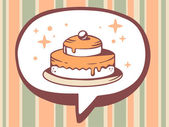 Icon of cake — Stock Vector