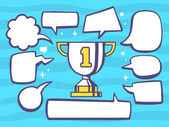 Sport goblet with speech bubbles — Stockvektor