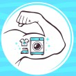 Icon of washing machine — Stock Vector #64366341