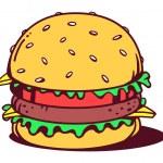 Big classic burger — Stock Vector #67163515
