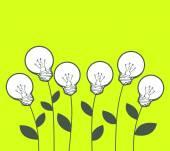White lightbulbs growing — Stock Vector