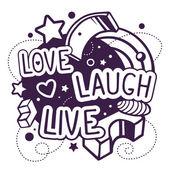 Love laugh live quote — Stock Vector